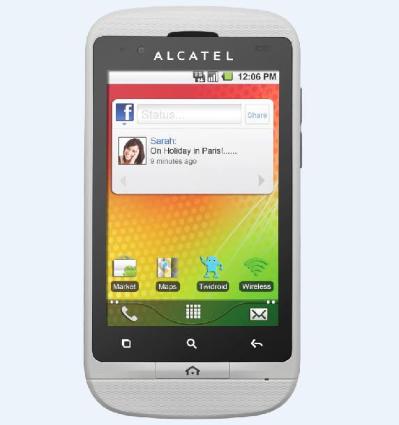 alcatel one touch android phone. Black Bedroom Furniture Sets. Home Design Ideas