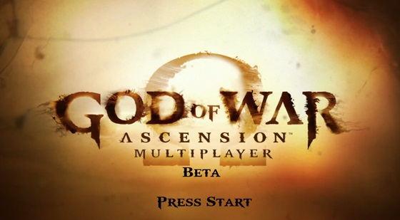 GOW ascension title screen