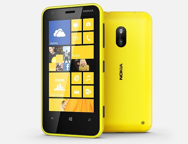 Lumia 620 yellow front and back